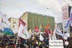 anti putin för marschmoscow personer som protesterar Arkivbilder