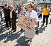 Anti Putin meeting in support of Ukraines unity Stock Photo