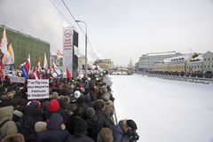 Anti-Putin protesters march through Moscow Stock Image