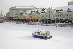 Anti-Putin protesters march through Moscow Royalty Free Stock Image