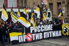 Anti-Putin Rally Royalty Free Stock Photos