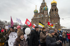 Anti-Putin Rally Royalty Free Stock Photography