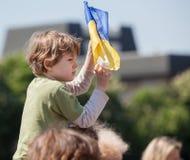 Anti réunion de Poutine à l'appui de l'unité d'Ukraines Photographie stock