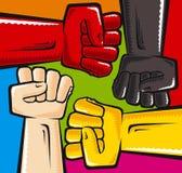 Anti racismo ilustração royalty free