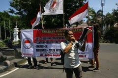 Anti raduno di corruzione Fotografie Stock