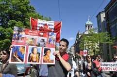 Anti raduno OMG. Fotografia Stock