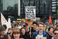 Anti rassemblement de coupes à Londres Photographie stock