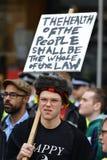 Anti rassemblement de coupes à Londres Image stock