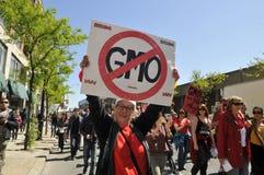 Anti rassemblement de GMO. Image stock