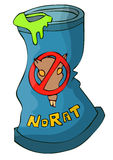 Anti Rat Poison in a Cartoon Blue Tin Can. Royalty Free Stock Photography