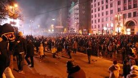 Anti--regering protest lager videofilmer