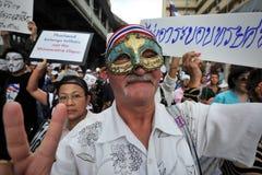 Anti--regering protest i Bangkok Royaltyfri Fotografi