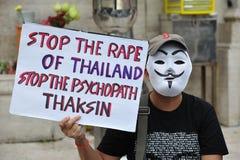 Anti--regeringen folkets gruppen för armé samlar i Bangkok Royaltyfria Foton