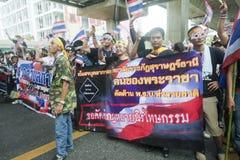 Anti- Regierungsprotest gegen Yingluck Shinnawatragovernment. stockbild