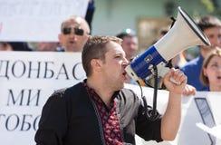 Anti reunião de Putin a favor da unidade de Ukraines Fotografia de Stock Royalty Free
