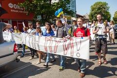 Anti reunião de Putin a favor da unidade de Ukraines Imagem de Stock Royalty Free