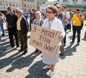 Anti reunião de Putin a favor da unidade de Ukraines Foto de Stock
