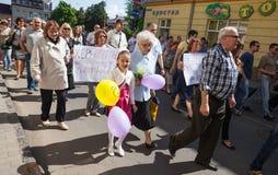Anti reunião de Putin a favor da unidade de Ukraines Fotos de Stock Royalty Free