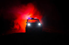 Free Anti-riot Police Give Signal To Be Ready. Government Power Concept. Police In Action. Smoke On A Dark Background With Lights. Blue Stock Photography - 93303102