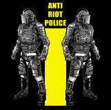 ANTI RIOT POLICE3 Stock Photography
