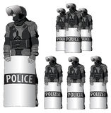Anti Riot police - vector set  Stock Photography