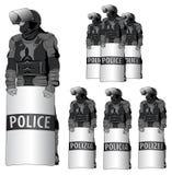 Anti Riot police - vector set  Stock Photography