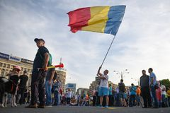 Anti Romania`s top court protest, Bucharest, Romania - 30 May 20 royalty free stock images