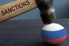 Anti Russian sanctions. Hummer under egg. Anti Russian sanctions concept. Hummer under egg royalty free stock photos