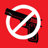 Anti símbolo da arma Imagem de Stock