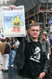 anti sarkozy paris affisch Royaltyfri Bild