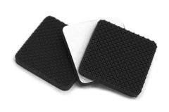 Anti scratch and slip rubbers pad Stock Images