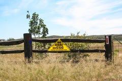 Anti segni di protesta del gas della vena di carbone Fotografie Stock Libere da Diritti