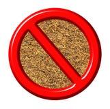 anti segno del tabacco 3d Immagini Stock