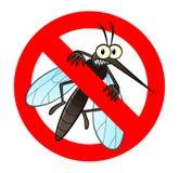 Anti segno della zanzara Fotografia Stock