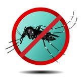 Anti segno della zanzara, icona piana Immagini Stock