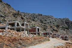 Anti-seismic building. On a steep hillside Royalty Free Stock Photos