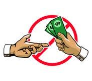 Anti signe de main de corruption Photo libre de droits