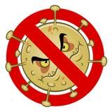 Anti signe de virus illustration stock