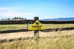 Anti sinais do protesto do gás da emenda de carvão Foto de Stock