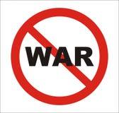 Anti sinal da guerra, vetor Fotos de Stock