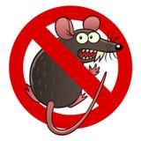 Anti sinal do rato Imagens de Stock Royalty Free