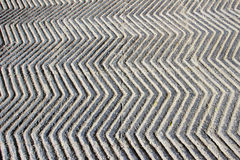 Anti-skid, Zigzag Concrete Path Stock Photos