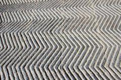 Anti-skid, Zigzag Concrete Path Stock Photos