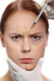 Anti-skrynkla injektion royaltyfria bilder