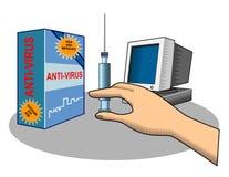 anti skyddsvirus dig Arkivfoto