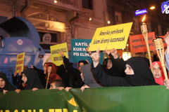 Anti İslamfilm för protest Arkivbild