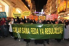 Anti İslamfilm för protest Royaltyfri Foto