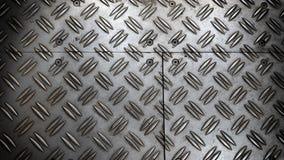 Anti slip metal sheet floor . Stock Photo