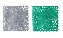 Anti slip plastic tiles for bathroom or wet area Royalty Free Stock Photography