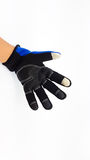 Anti slip touch screen blue and black glove for winter Royalty Free Stock Photography